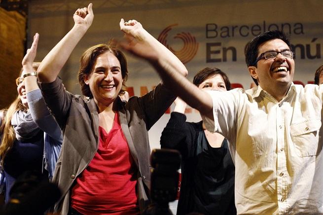 "Ada Colau si è imposta a Barcelona con la lista ""Barcelona en Comù"" (BComù) vicina a Podemos (foto Afp/Adnkronos)"