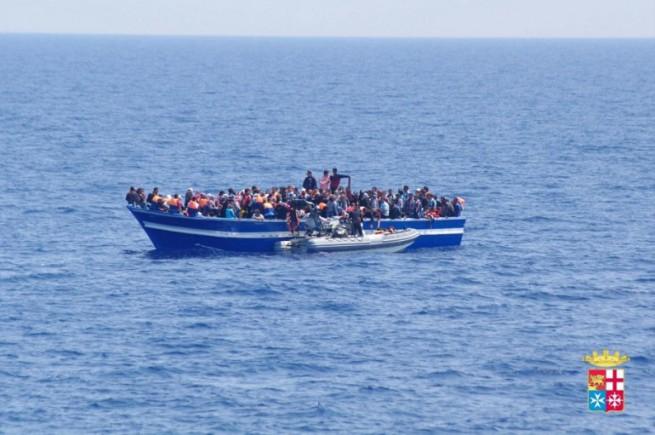Nuova tragedia di migranti nel Mediterraneo: altri 17 morti recuperati dalla Marina Militare (foto di repertorio, fonte MMI)