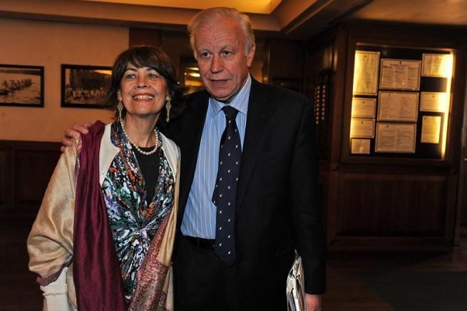 Claudio Angelini con la moglie Olga Cortese (foto da 'Dagospia')