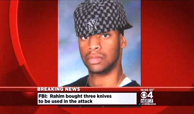 Usaamah Rahim, il giovane che aveva in mente di decapitare Pamela Geller, fondatrice e presidente dell'American Freedom Defense Initiative (immagine da video della CBS Boston)