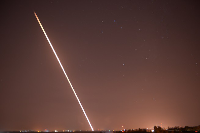 Palestinian rocket shot from Gaza Strip