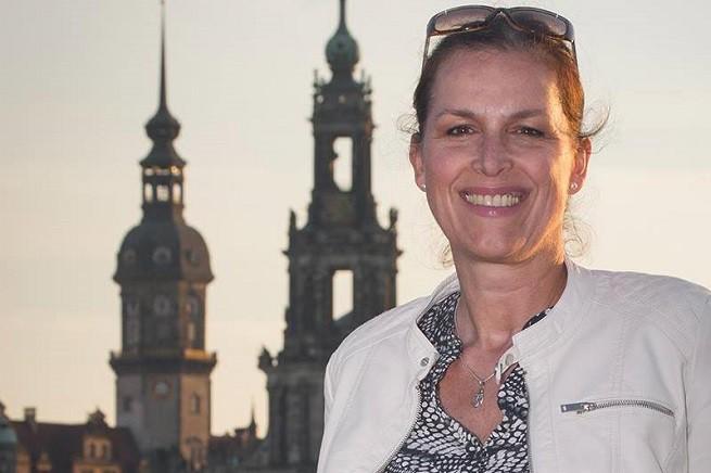 Tatjana Festerling, candidata alla carica di borgomastro di Dresda, capitale della Sassonia, per Pegida (foto dal profilo Facebook)