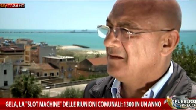Giuseppe Fava, geologo, presidente del Consiglio Comunale di Gela nella consiliatura 2010-2015 (immagine da fotogramma del programma 'Pubblico Spreco' trasmesso da SkyTG24)