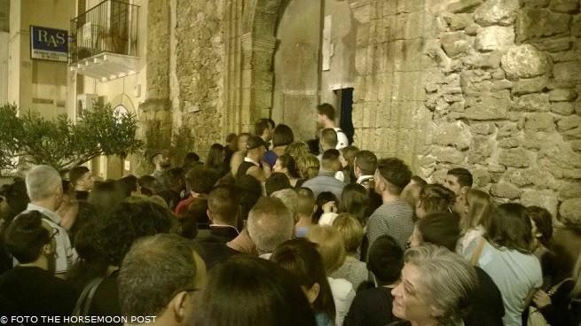 L'ingresso per visitare i resti della chiesa sconsacrata di San Giovanni
