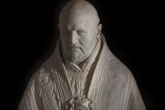 Il busto di Paolo V, opera di Gian Lorenzo Bernini del 1621 (foto di Daniele Petrucci via AdnKronos)
