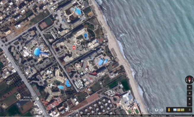 L'Hôtel Imperial Marahbé di Hammem-Sousse (Google Map)