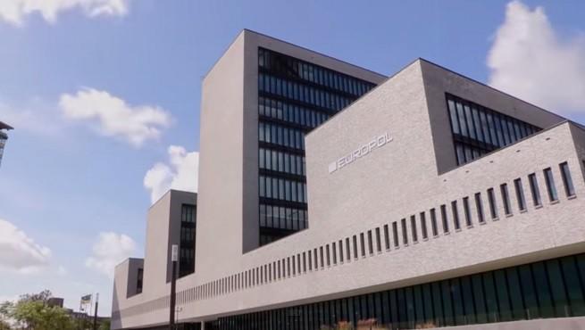 La sede di Europol (immagine tratta dal video dell'operazione 'Blue Amber')