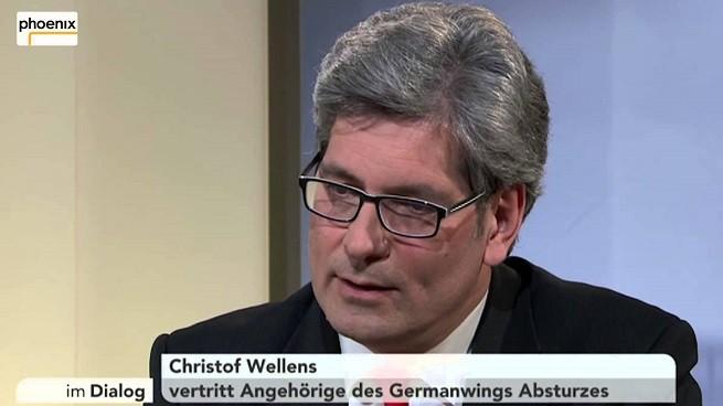 L'avvocato Christof Wellens intervistato dalla rete televisiva tedesca phoenix