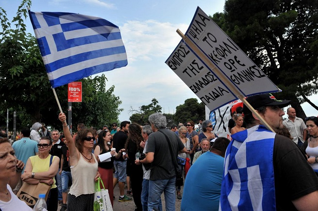 Manifestazioni ad Atene (foto AKIS MITROLIDIS/AFP via Adnkronos)