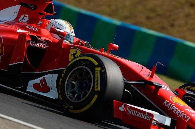 Sebastian Vettel ha trionfato all'Hungaroring, seconda vittoria stagionale del Cavallino Rampante e della sua carriera in Ferrari © FOTO STUDIO COLOMBO/FERRARI