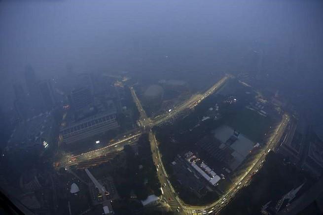 Il circuito cittadino di Marina Bay ripreso ieri, 15 Settembre