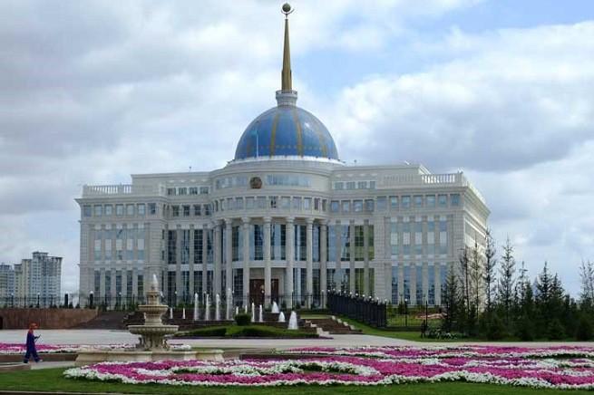 Il palazzo presidenziale a Tashkent