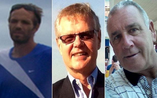 I tre rapiti occidentali, da sinistra Kjartan Sekkingstad, John Ridsdel e Robert Hall. La donna filippina non è ancora stata identificata (foto Reuters)