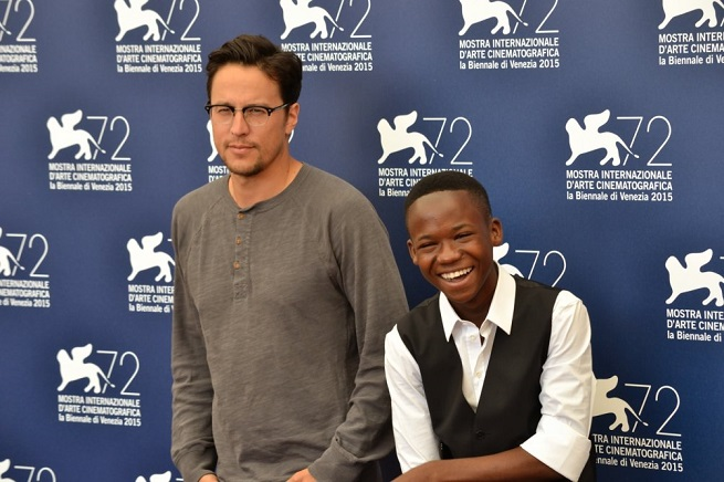 Cary Fukunaga e il giovane Abraham Attah