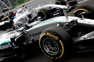 Nico Rosberg partirà dalla pole position del Gran Premio del Messico, davanti al compagno di squadra Lewis Hamilton e al ferrarista Sebastian Vettel (© FOTO STUDIO COLOMBO PER PIRELLI MEDIA)