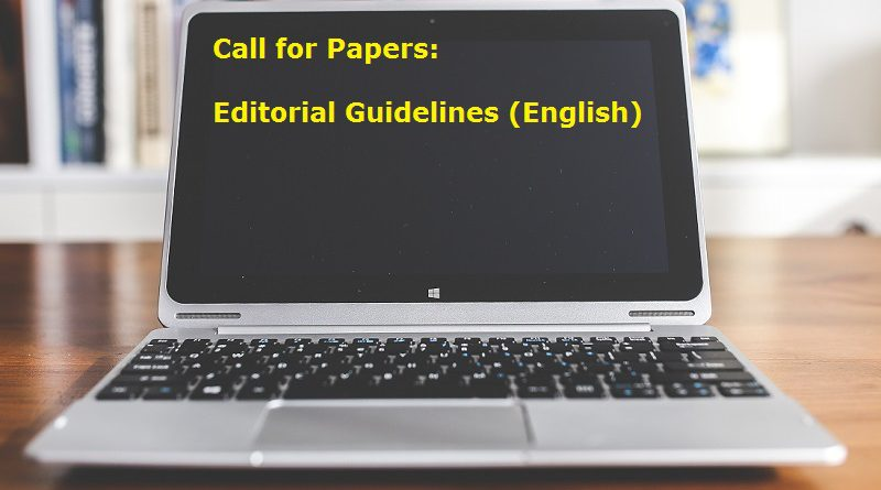 CALL FOR PAPERS: Editorial Guidelines (English version)