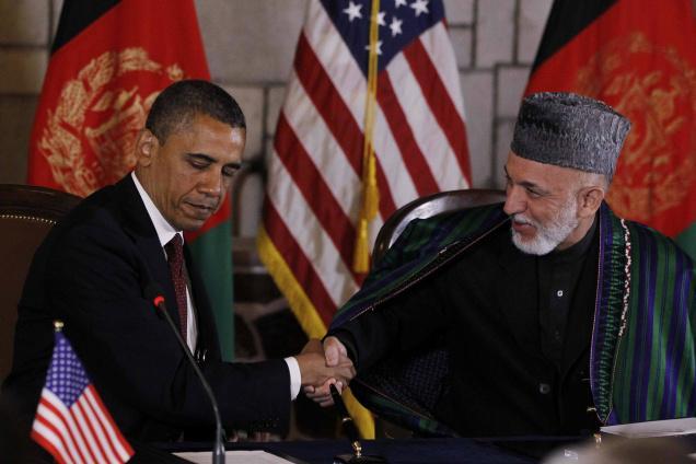 Obama e Karzai