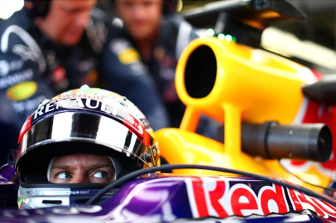Sebastian Vettel, primo nelle ultime libere del GP di Gran Bretagna (Foto Infiniti Red Bull Racing)