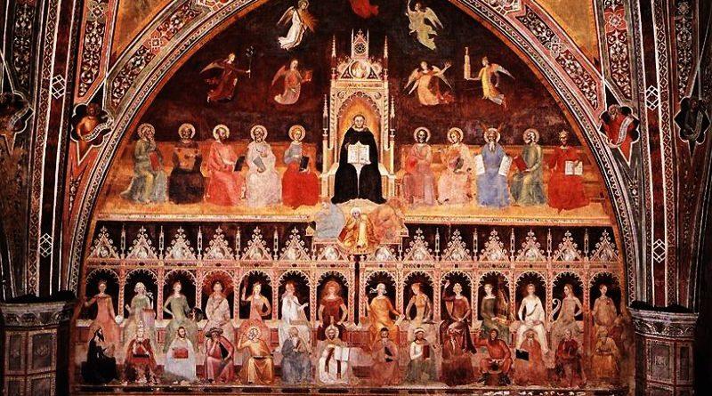 (Il trionfo di San Tommaso d'Aquino', Andrea di Bonaiuto, Cappellone degli Spagnoli, Santa Maria Novella, Firenze)